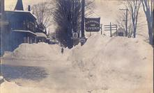 Image of 1888 blizzard in Warrensburg, NY